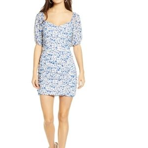 All in Favour Sasha ruched mini dress